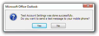 Test Account Settings was done successfully.