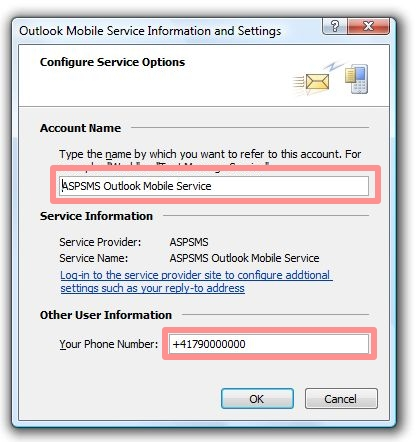 Outlook Mobile Service Information and Settings